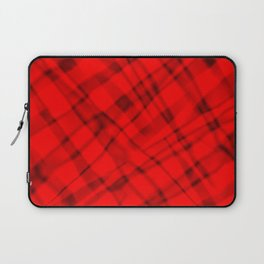 Bright metal mesh with red intersecting diagonal lines and stripes. Laptop Sleeve