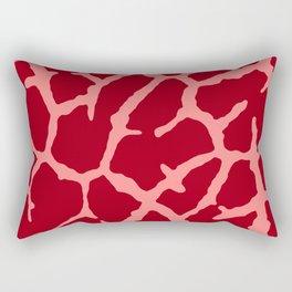 Red Giraffe Print Rectangular Pillow
