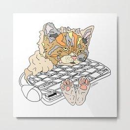 Tired Kitty Metal Print