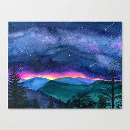 Good Night Smoky Mountains Canvas Print