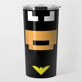 The Caped Crusader - Super Heroes in Pixel Travel Mug