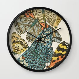Butterfly Scientific Illustration by E.A. Seguy, 1925 #12 Wall Clock