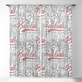 Baseball Typo Sheer Curtain