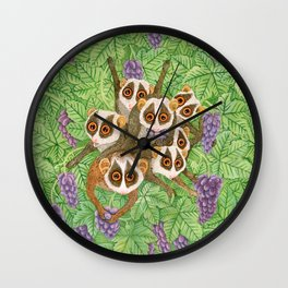 Loris Monkey Family Wall Clock