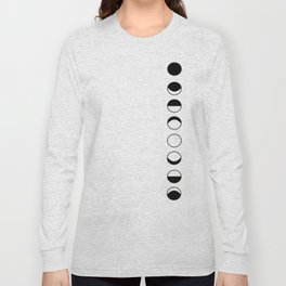 phases of the moon Long Sleeve T-shirt