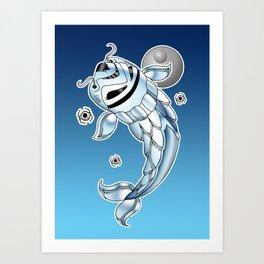 Stormtrooper koi Art Print