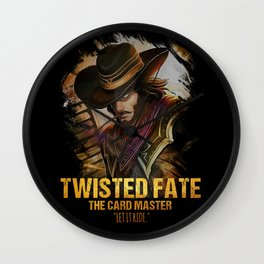 League of Legends TWISTED FATE - [The Card Master] Wall Clock