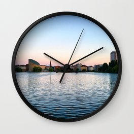 Clear & Blurry Lake Wall Clock