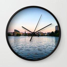 Clear & Blurry Lake Wall Clock