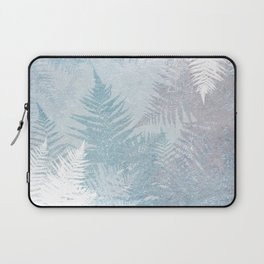 Fern Snowflakes - Taupe, Aqua & Blues Laptop Sleeve