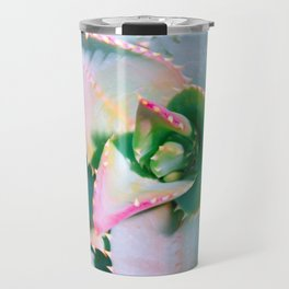 Pastel and neon pink succulent no3 Capture a cactus Travel Mug
