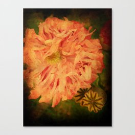 Flame Flower. Canvas Print