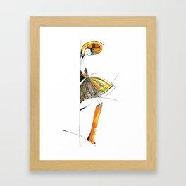 """""""The mystery of the orange hat""""  Framed Art Print"""
