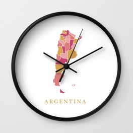 Argentina map Wall Clock