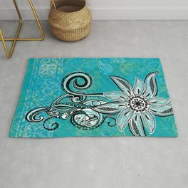 Trbal Floral Theads Rug