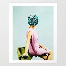 'Forever her diamonds' Art Print