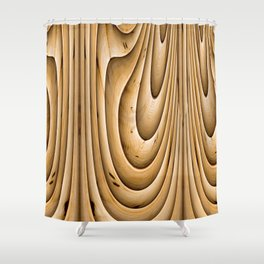 Twisting Bamboo Shower Curtain