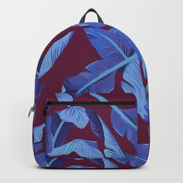Tropical '17 - Blue Bird Of Paradise [Banana Leaves] Backpack