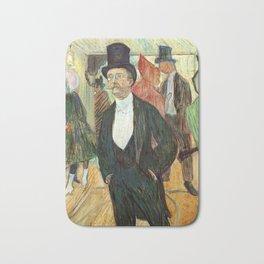 """Henri de Toulouse-Lautrec """"Monsieur Henri Fourcade au Bal de l'Opéra"""" Bath Mat"""