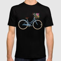 Her Bicycle Black Mens Fitted Tee SMALL