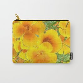 GOLDEN YELLOW CALIFORNIA POPPY WILD FLOWER PATTERNS Carry-All Pouch
