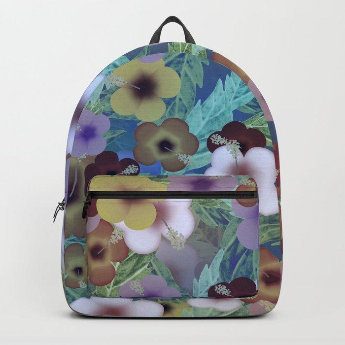 Hibiscus, The Moonlit Garden Backpack