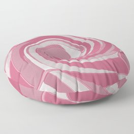Spiral in Pink and White Floor Pillow