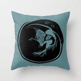 Anteater Block Print Throw Pillow