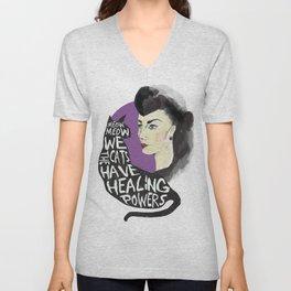 Healing powers Unisex V-Neck