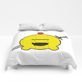 allien emoji, warrior, yellow master Comforters