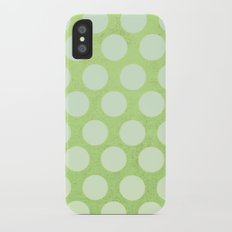 Linden Green Dots Slim Case iPhone X