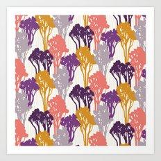 Arboreal Silhouettes Art Print
