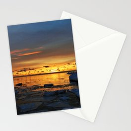 Sunset in Muskegon, Michigan Stationery Cards