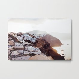 Oia Sunrise Metal Print