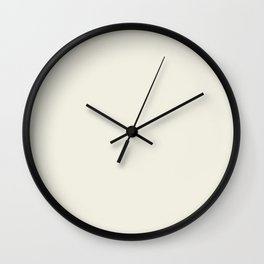 Off-White - Linen - Ivory Solid Color Parable to Pantone Cannoli Cream Wall Clock