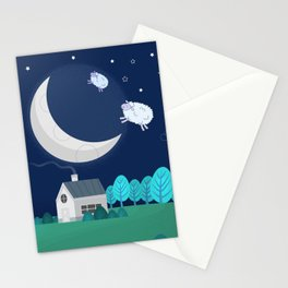 What The Sheep Do While You Sleep Stationery Cards