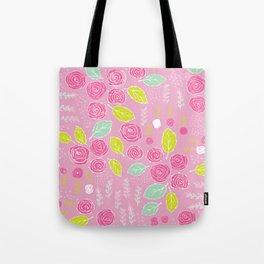 Belle Fleurs - bright roses Tote Bag