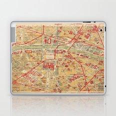 Paris City Centre Map - Vintage Full Color Laptop & iPad Skin