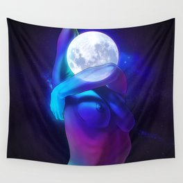 Moon Head Wall Tapestry