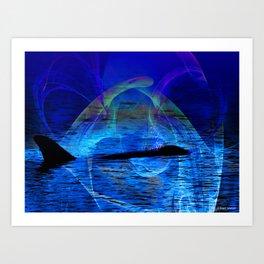 Dolphin Crossing Art Print