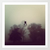 spider Art Prints featuring spider by zin taskiran