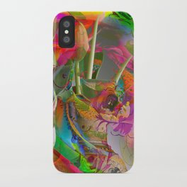 The Smell of Our Digital Flower Park iPhone Case