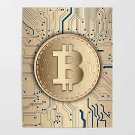 Bitcoin money gold Poster