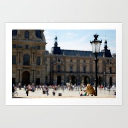Sparrow at the Louvre Art Print
