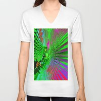 psychedelic V-neck T-shirts featuring Psychedelic  by Elizabet Chacon Artworks