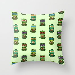 Chibi Ninja Turtles Throw Pillow