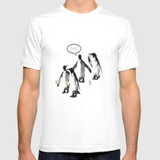 Penguins and Ice Creams MEDIUM White Mens Fitted Tee