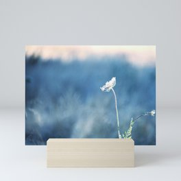 QUEEN ANNE'S LACE - ABSTRACT BACKGROUND - COUNTRYSIDE IMAGE Mini Art Print