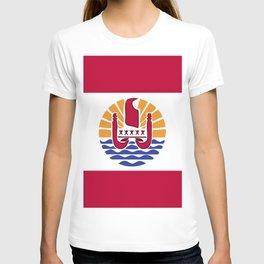 French Polynesia flag emblem T-shirt