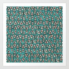 shakal turquoise Art Print